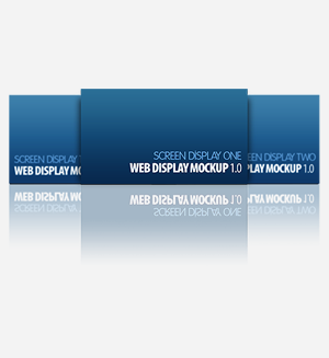 web display mockup